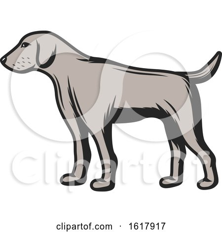 Hunting Dog by Vector Tradition SM