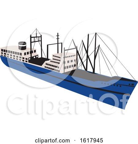 Vintage Cargo Ship by patrimonio