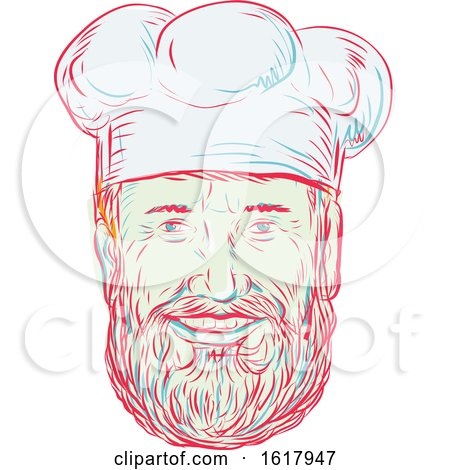 Hipster Baker Cook Chef Head by patrimonio