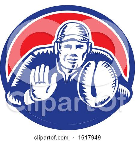 Baseball Catcher by patrimonio