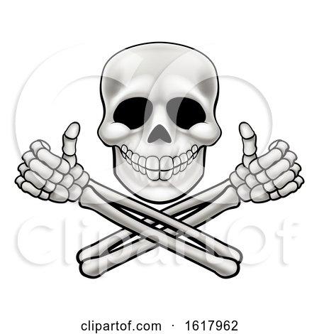 Skull and Crossbones Illustration by AtStockIllustration