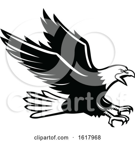 Screaming Swooping Eagle Side Retro by patrimonio