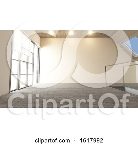 3D Contemporary Empty Room by KJ Pargeter