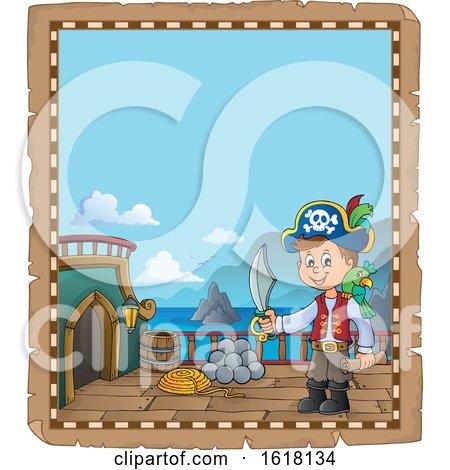 Pirate Boy Parchment Border by visekart