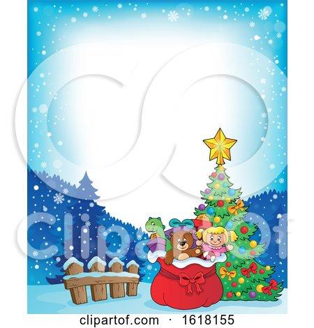 Christmas Santa Sack Border by visekart