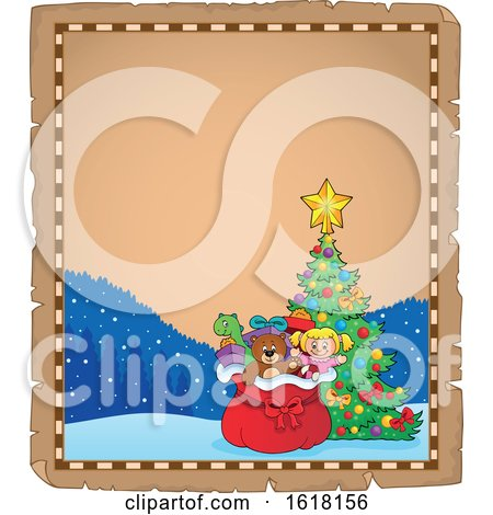 Christmas Santa Sack Border by visekart