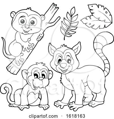 Happy Lemur Monkey and Tarsier by visekart