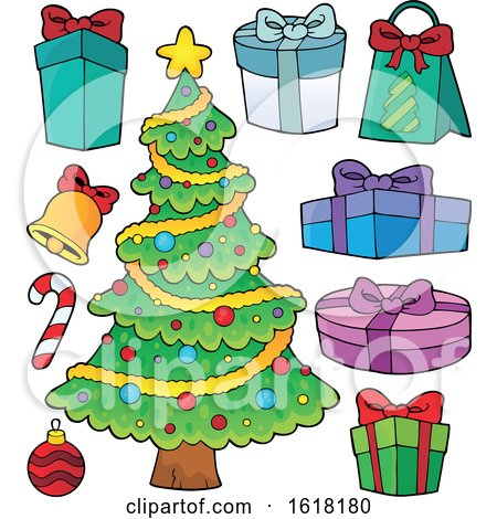 Christmas Tree with Gifts by visekart