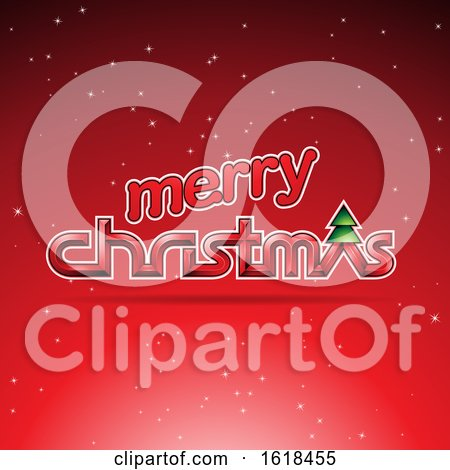 Merry Christmas Greeting in Red by cidepix