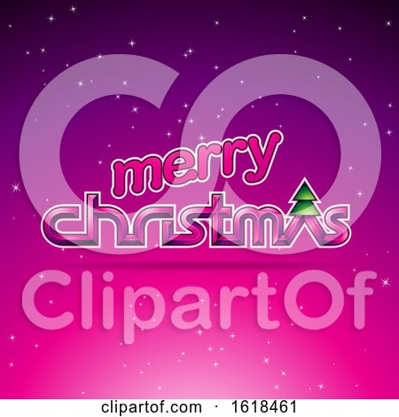 Merry Christmas Greeting in Magenta by cidepix
