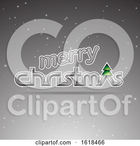 Merry Christmas Greeting in Gray by cidepix