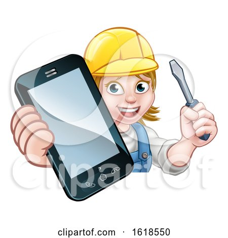 Electrician Handyman Phone Concept by AtStockIllustration