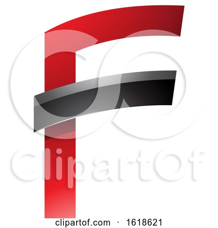Red and Black Glossy Letter F by cidepix