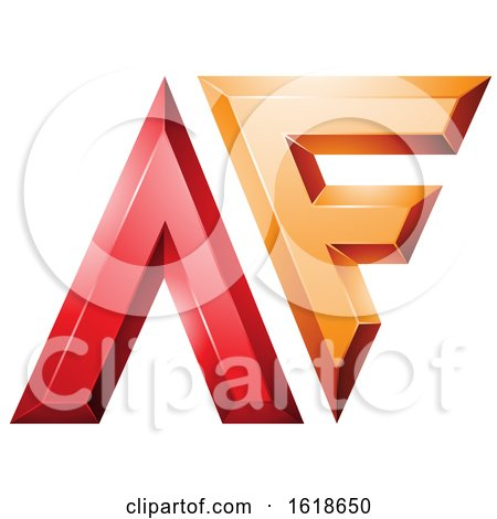 Red and Orange Glossy Letters a and F by cidepix