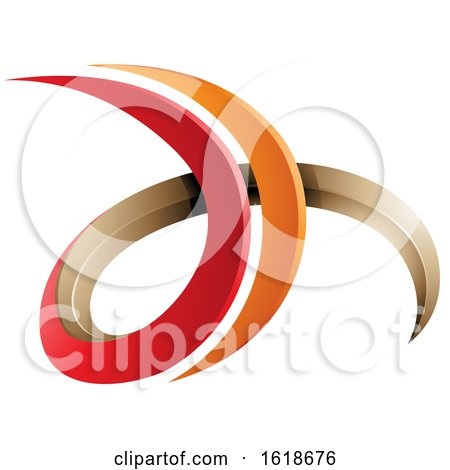 Red and Orange 3d Curly Letters D and H by cidepix