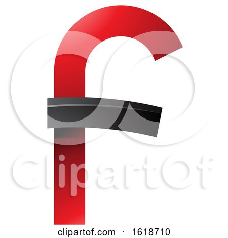 Red and Black Curvy Letter F by cidepix