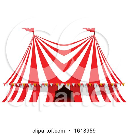 Circus Big Top Tent by Vector Tradition SM