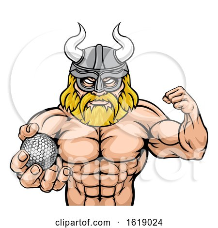 Viking Golf Sports Mascot by AtStockIllustration