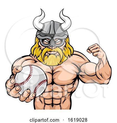Viking Baseball Sports Mascot by AtStockIllustration