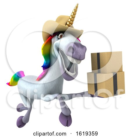 3d Cowboy Unicorn, on a White Background by Julos