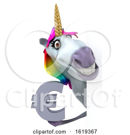 3d Unicorn, on a White Background by Julos