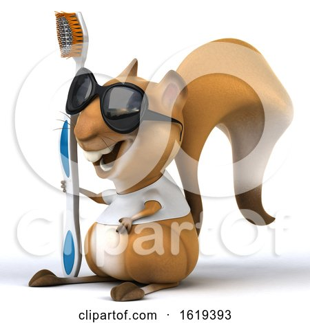 3d Squirrel, on a White Background by Julos