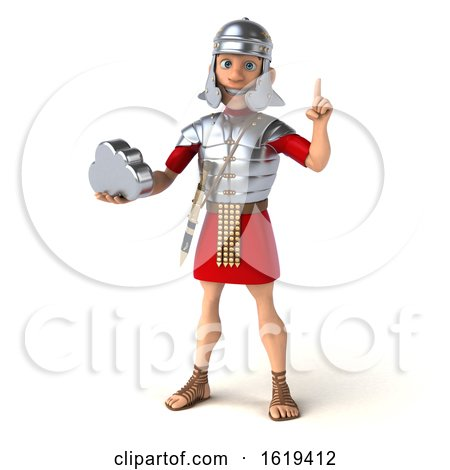 3d Young Male Roman Legionary Soldier, on a White Background by Julos