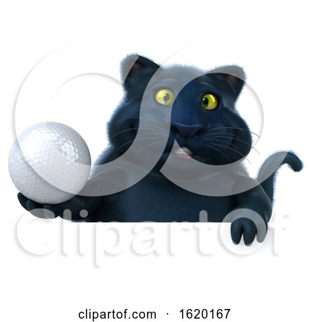 3d Black Kitty Cat, on a White Background by Julos