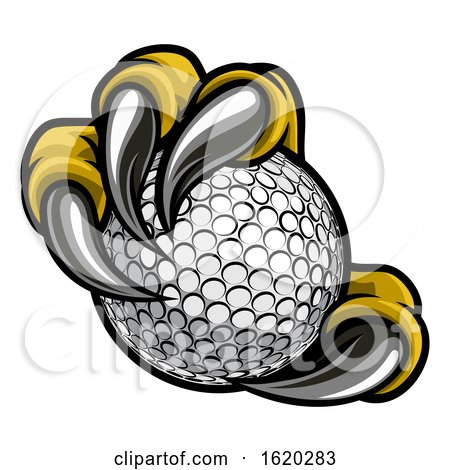 Eagle Bird Monster Claw Talons Holding Golf Ball by AtStockIllustration