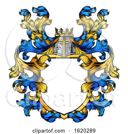 Coat of Arms Knight Crest Heraldic Family Shield by AtStockIllustration