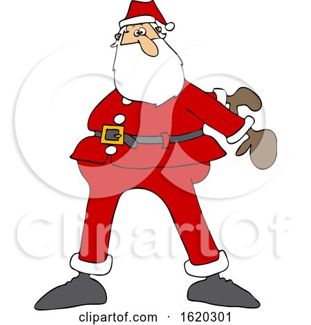Cartoon Christmas Santa Dancing the Floss by djart