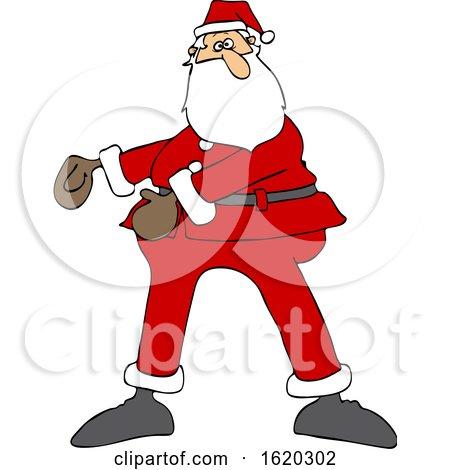 Cartoon Christmas Santa Dancing the Floss by djart
