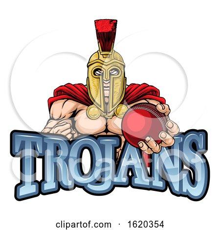Trojan Spartan Cricket Sports Mascot by AtStockIllustration