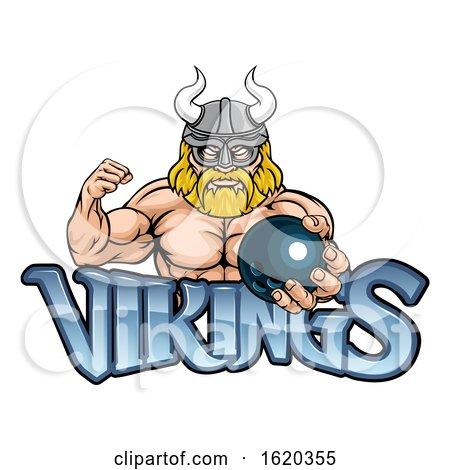Viking Bowling Sports Mascot Posters, Art Prints