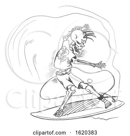 Surfer Skeleton by Domenico Condello