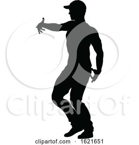Street Dance Dancer Silhouette by AtStockIllustration