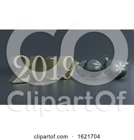 3D Render of Christmas and New Year Background by KJ Pargeter