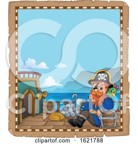 Pirate Captain Border by visekart