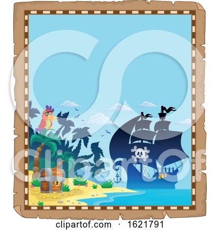 Pirate Ship Border by visekart