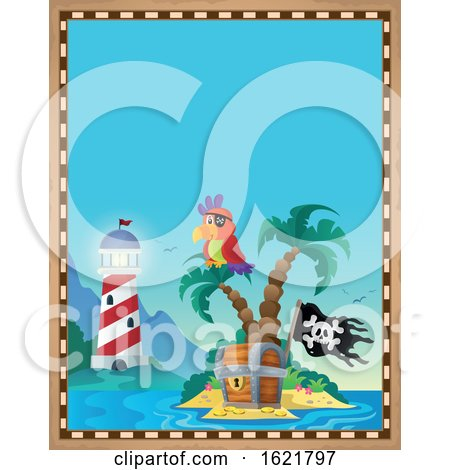 Pirate Parrot Border by visekart