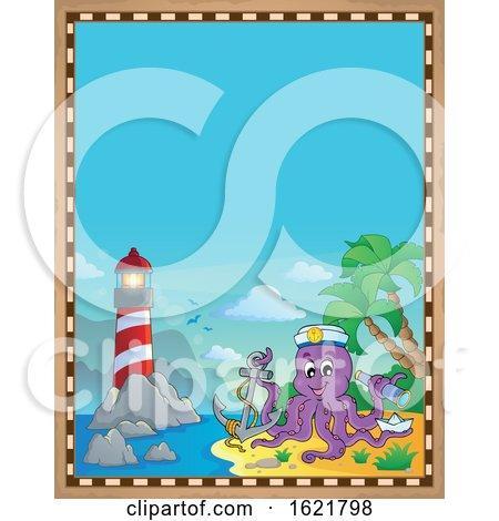 Pirate Octopus Border by visekart