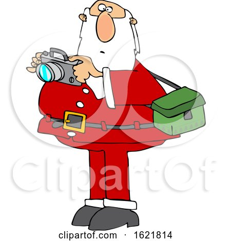 Cartoon Santa Taking Christmas Pictures by djart