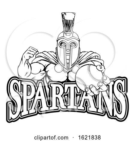 Spartan Trojan Baseball Sports Mascot by AtStockIllustration