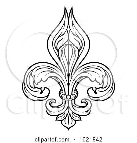 Fleur De Lis Graphic Design Element by AtStockIllustration