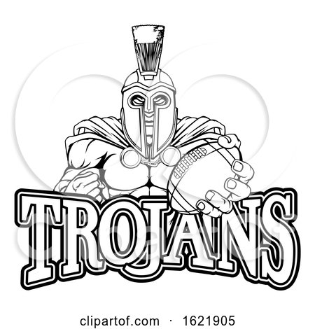 Spartan Trojan American Football Sports Mascot by AtStockIllustration