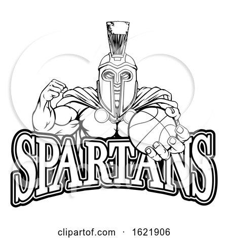 Spartan Trojan Basketball Sports Mascot by AtStockIllustration