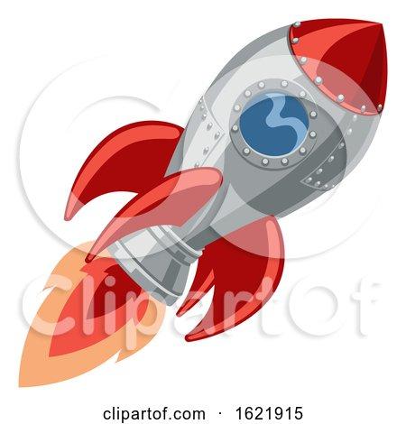 Cartoon Rocket Space Ship by AtStockIllustration