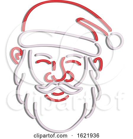 Santa Claus Neon Sign by patrimonio