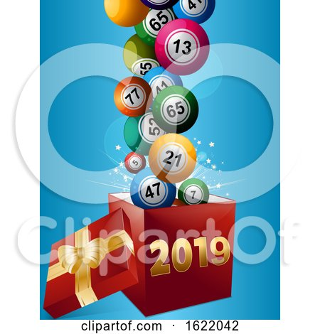 Bingo Balls and Gift Box 2019 by elaineitalia