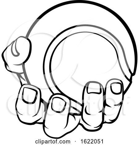 Hand Holding Tennis Ball by AtStockIllustration